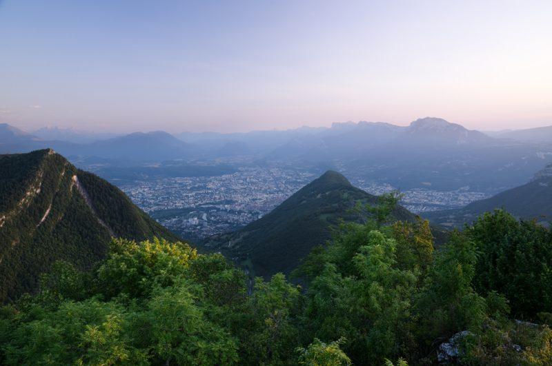 L'Ecoutoux, un point de vue sur la ville de Grenoble.