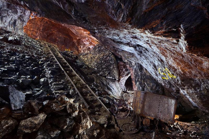 Petit plan incliné dans une ancienne mine de sidérite.