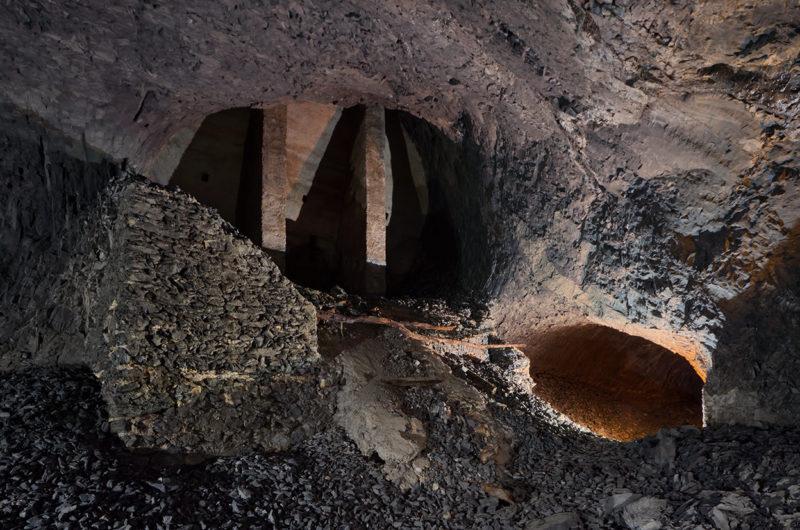 Robuste consolidation dans une carrière de calcaires argileux.